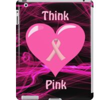 Breast Cancer Ribbon with Heart iPad Case/Skin
