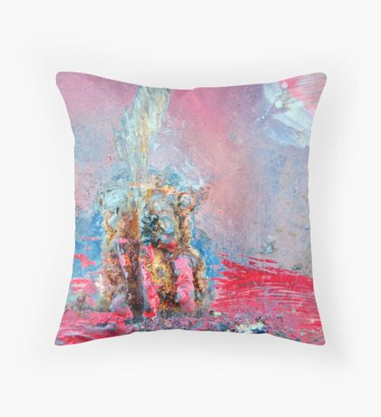 Trumpeting the Stone Throw Pillow