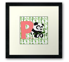 p for panda Framed Print
