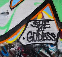 Abstract Graffiti Wall Art, She a Godess by KMRyan