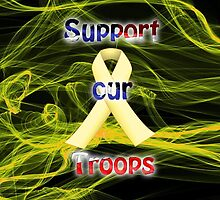 Yellow Ribbon Troop Awareness by Edmond  Hogge