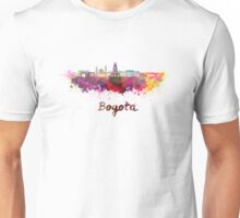 Bogota skyline in watercolor Unisex T-Shirt