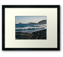 Wilson Promontory, Evening surf. Framed Print