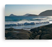 Wilson Promontory, Evening surf. Canvas Print