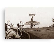 World War 2 Aircraft crash  Canvas Print