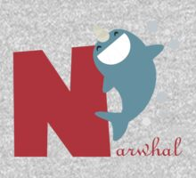 n for narwhal One Piece - Long Sleeve
