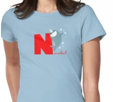 n for narwhal Womens Fitted T-Shirt