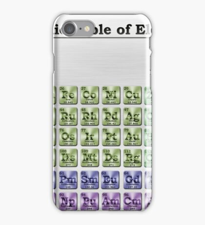 Periodic Table of Elements iPhone Case/Skin