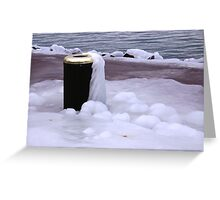Frozen Bin  Greeting Card