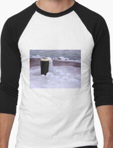 Frozen Bin  Men's Baseball ¾ T-Shirt