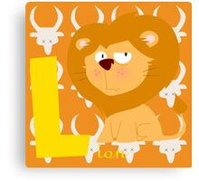 l for lion Canvas Print