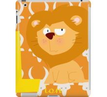 l for lion iPad Case/Skin