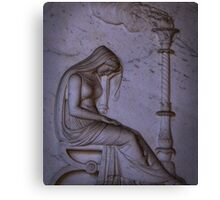 Sarcophagi sculpture another mourning lady  Canvas Print
