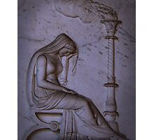 Sarcophagi sculpture another mourning lady  Photographic Print
