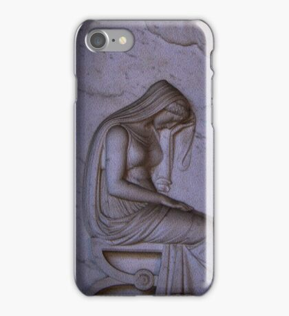 Sarcophagi sculpture another mourning lady  iPhone Case/Skin