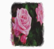 Pink Roses in Anzures 1 Vivid Oil Kids Clothes