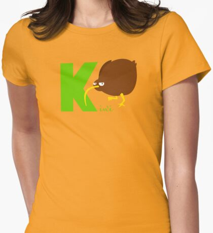 k for kiwi Womens Fitted T-Shirt