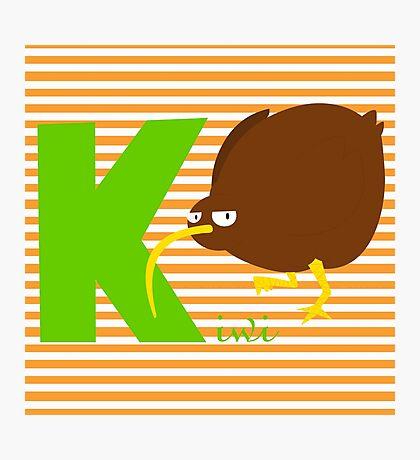 k for kiwi Photographic Print
