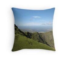 Ridge, Mount Snowdon Throw Pillow