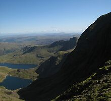 Lakes from the peak, Mt Snowdon by Catherine Young