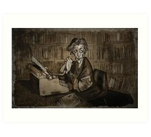 Librarian woman Art Print