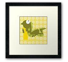 i for iguana Framed Print