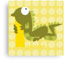 i for iguana Canvas Print