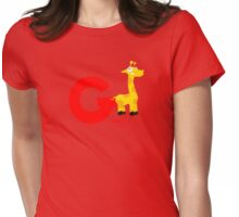 g for giraffe Womens Fitted T-Shirt