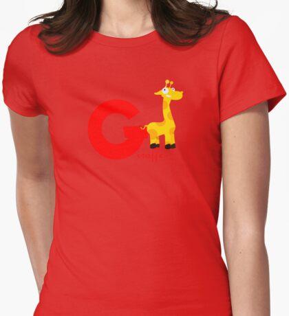 g for giraffe Womens Fitted T-Shirt