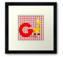 g for giraffe Framed Print