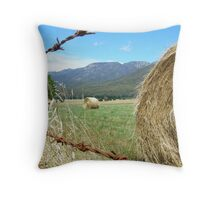 Hay Buffalo, Mt Buffalo, Victoria. Throw Pillow