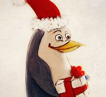 Xmas penguin by LindaMarieAnson