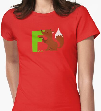 f for fox Womens Fitted T-Shirt