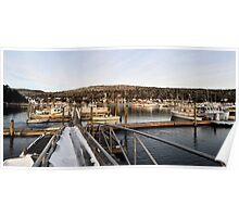 Northeast Harbor in Winter Poster