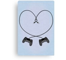 Playstation 4 Love Canvas Print
