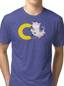 c for cow Tri-blend T-Shirt