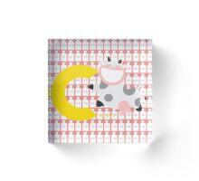 c for cow Acrylic Block