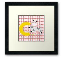 c for cow Framed Print