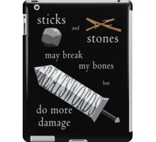 Greatswords Do More Damage-Light on Dark iPad Case/Skin