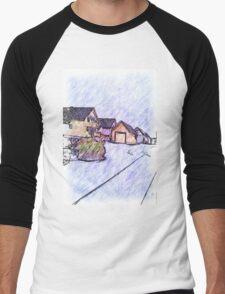 Many houses drawing Men's Baseball ¾ T-Shirt