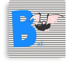 b for bat Canvas Print