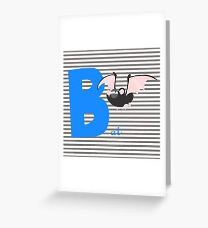 b for bat Greeting Card