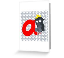 a for ape Greeting Card
