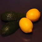 Still-life with avocado and two lemons by Bluesrose