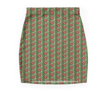 Red Flowers Pencil Skirt