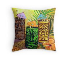 Tiki Bar Throw Pillow