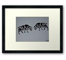 Fighting bulls Framed Print