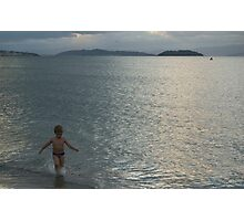 Children Free at Sea Photographic Print