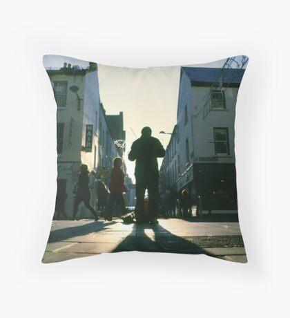 fiddler on marlboro street Throw Pillow