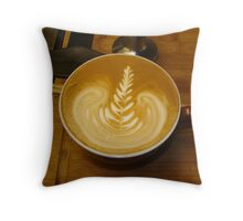 Coconut Lime Latte Love Throw Pillow